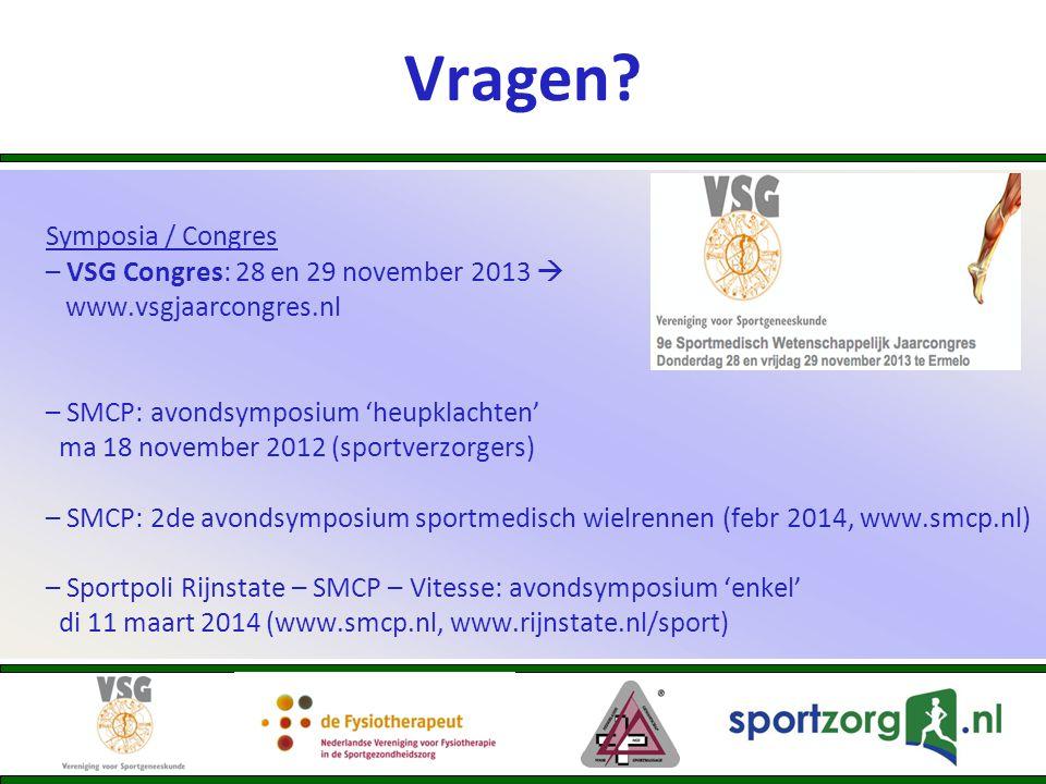 Vragen Symposia / Congres – VSG Congres: 28 en 29 november 2013 
