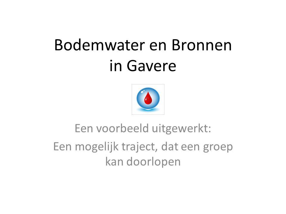 Bodemwater en Bronnen in Gavere