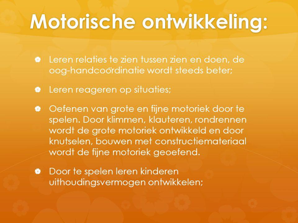 Motorische ontwikkeling: