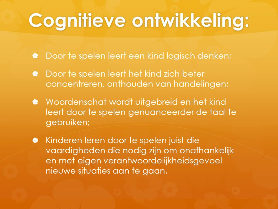 Cognitieve ontwikkeling: