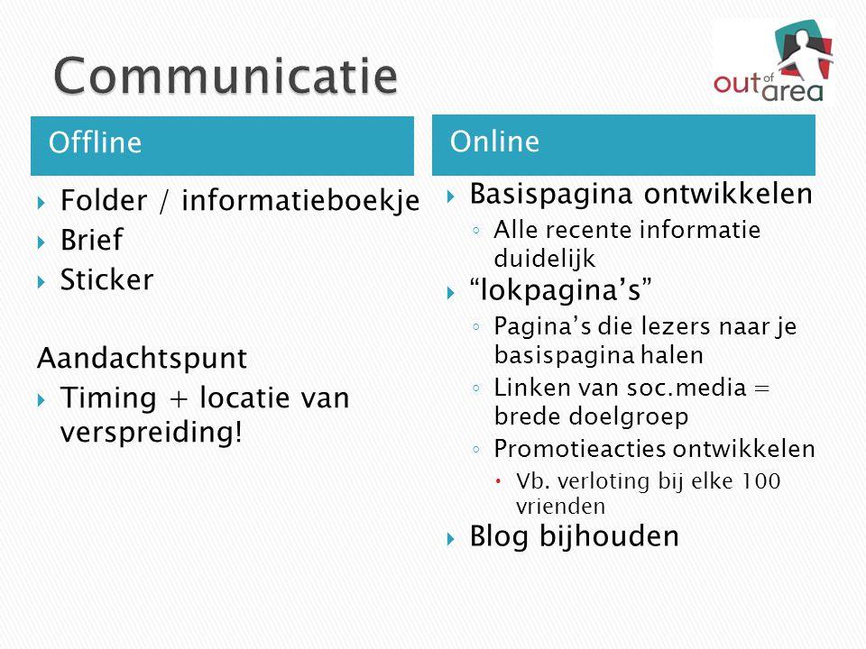 Communicatie Offline Online Basispagina ontwikkelen