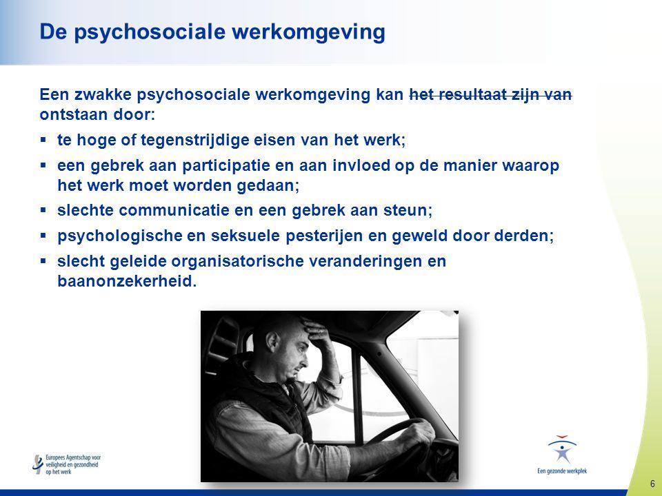 De psychosociale werkomgeving