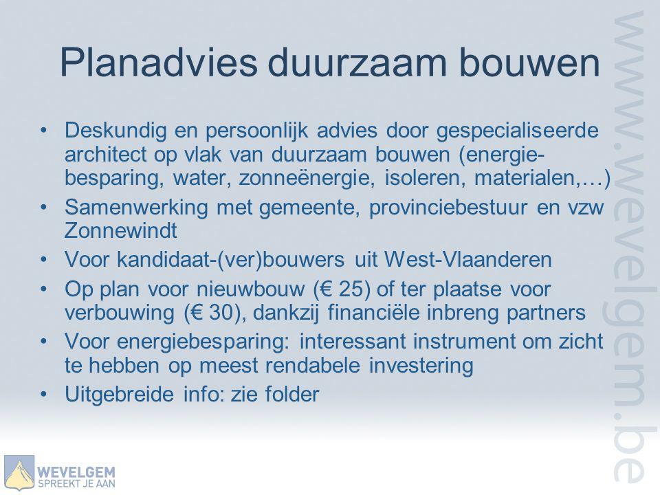 Planadvies duurzaam bouwen