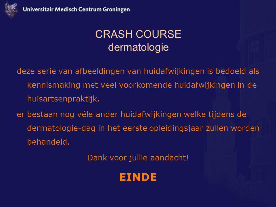 CRASH COURSE dermatologie