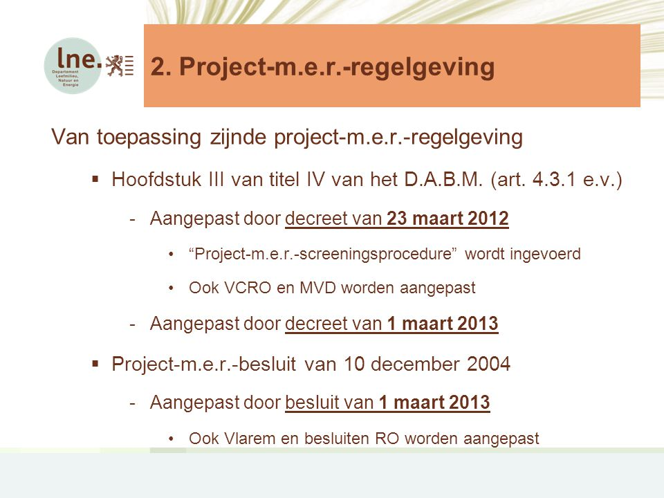 2. Project-m.e.r.-regelgeving