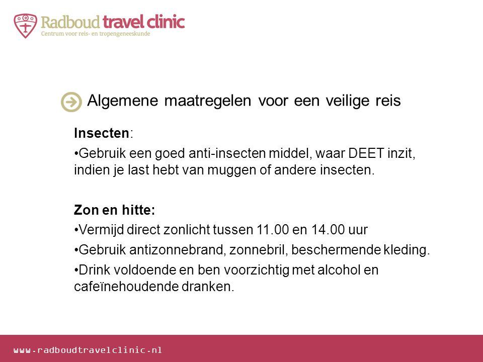 Algemene maatregelen voor een veilige reis