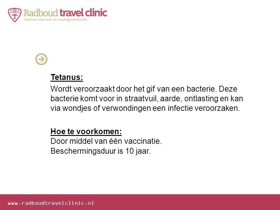Tetanus: Wordt veroorzaakt door het gif van een bacterie