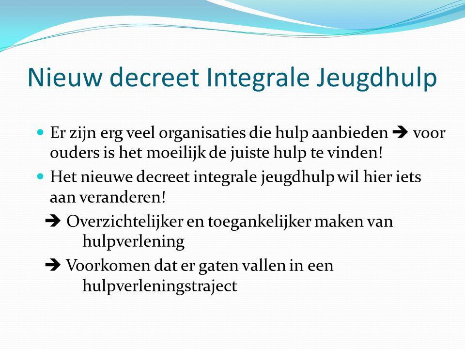 Nieuw decreet Integrale Jeugdhulp