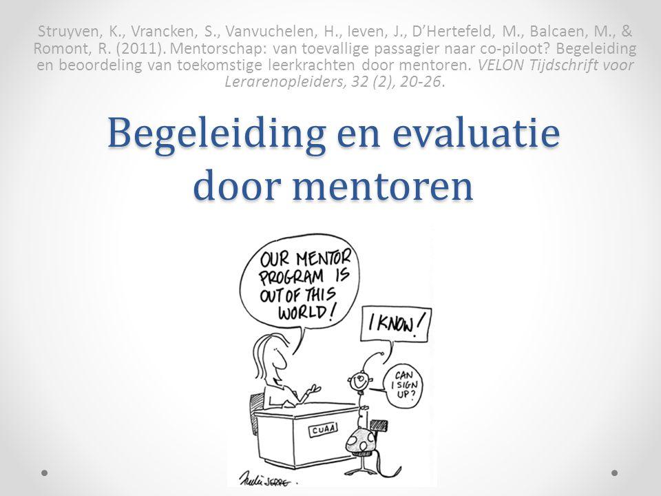 Begeleiding en evaluatie door mentoren