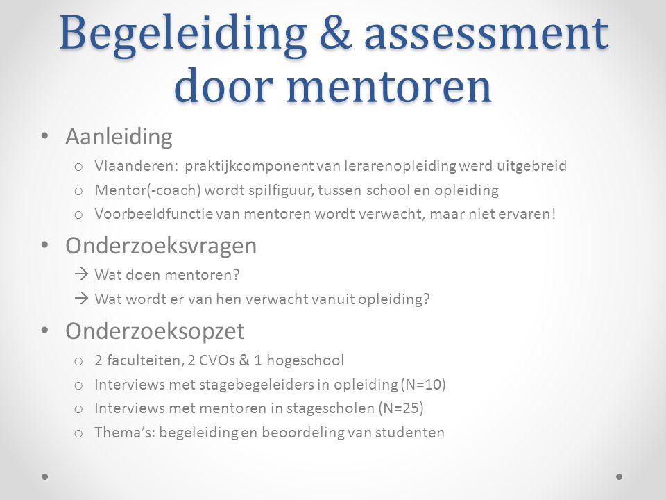 Begeleiding & assessment door mentoren