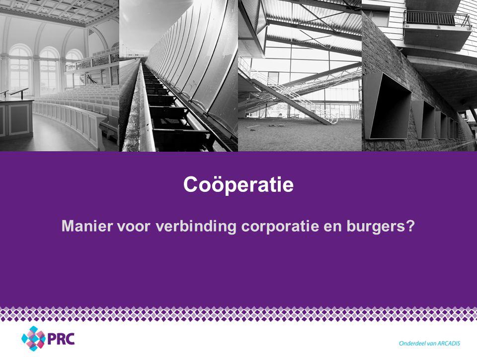 Manier voor verbinding corporatie en burgers