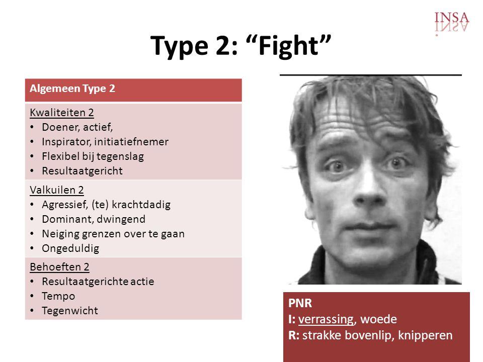 Type 2: Fight PNR I: verrassing, woede