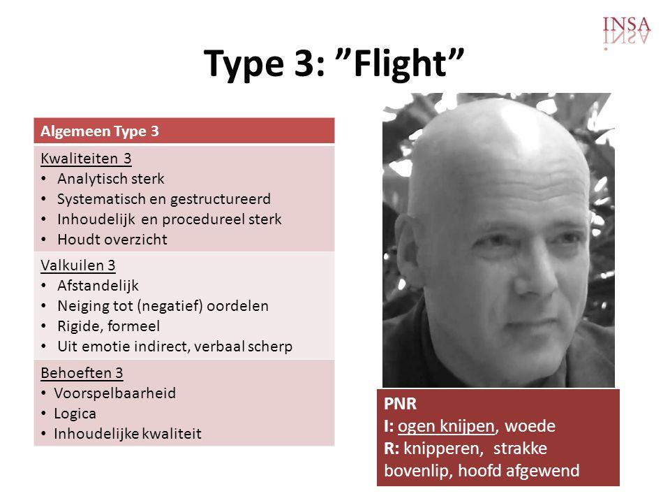 Type 3: Flight PNR I: ogen knijpen, woede