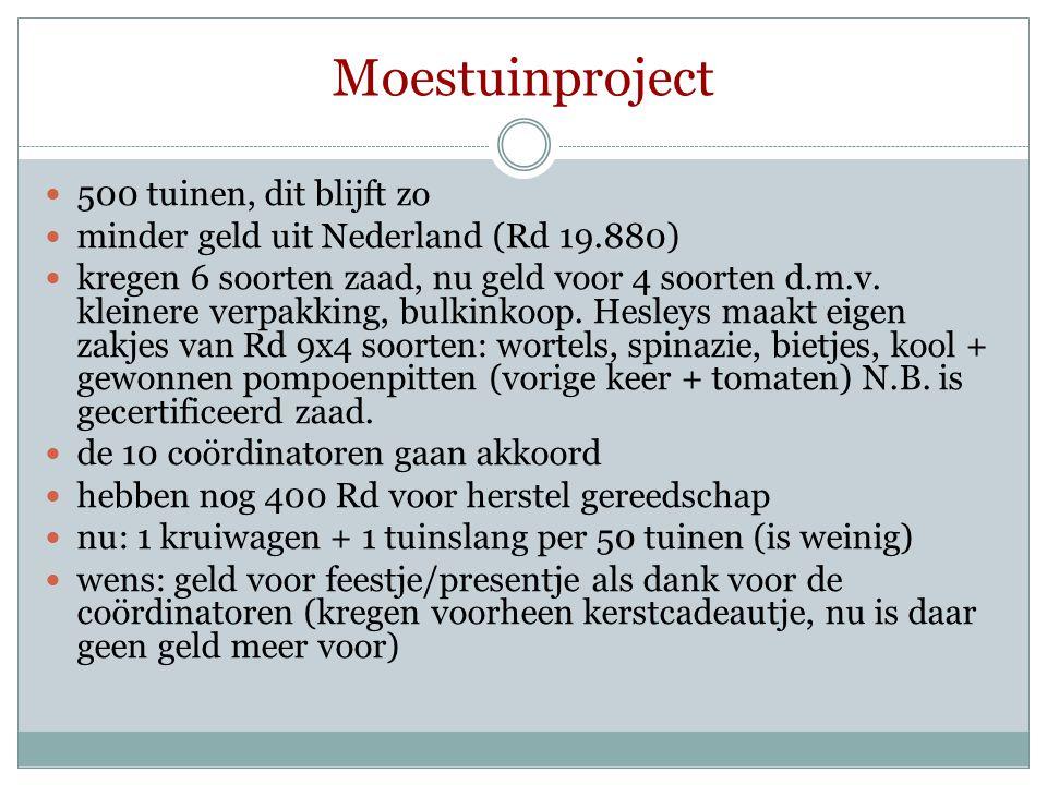 Moestuinproject 500 tuinen, dit blijft zo