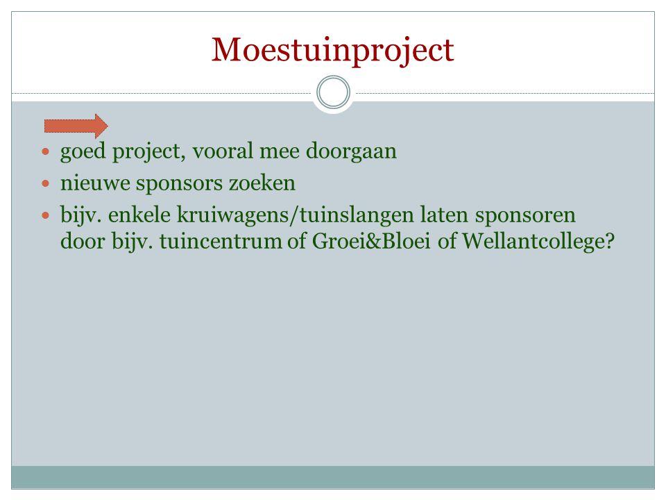 Moestuinproject goed project, vooral mee doorgaan