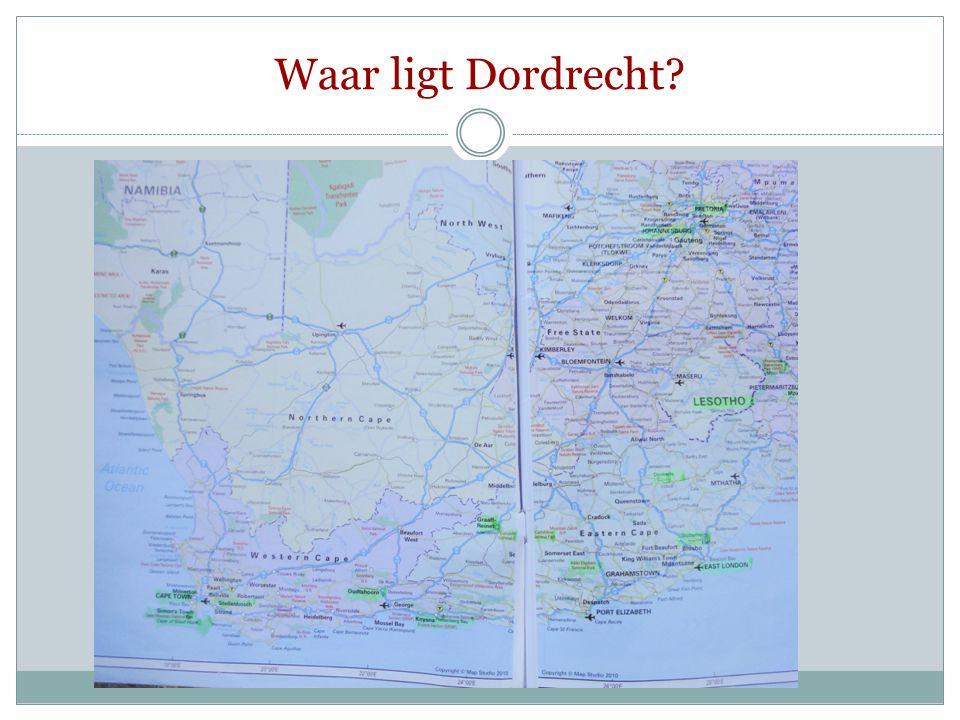 Waar ligt Dordrecht