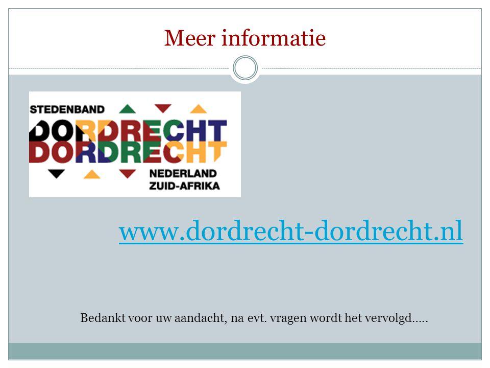 www.dordrecht-dordrecht.nl Meer informatie