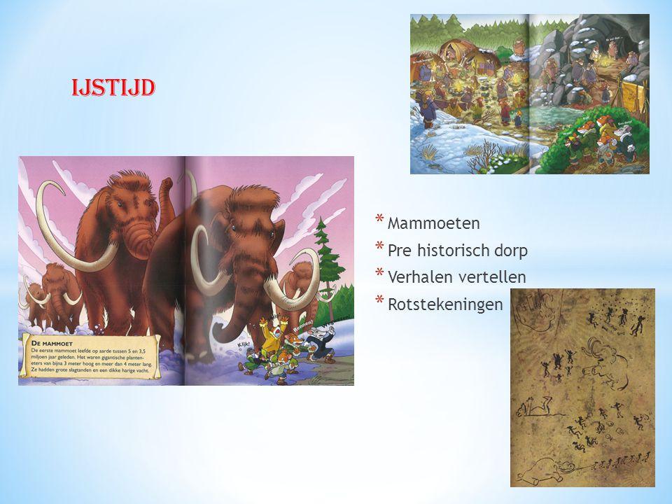 ijstijd Mammoeten Pre historisch dorp Verhalen vertellen
