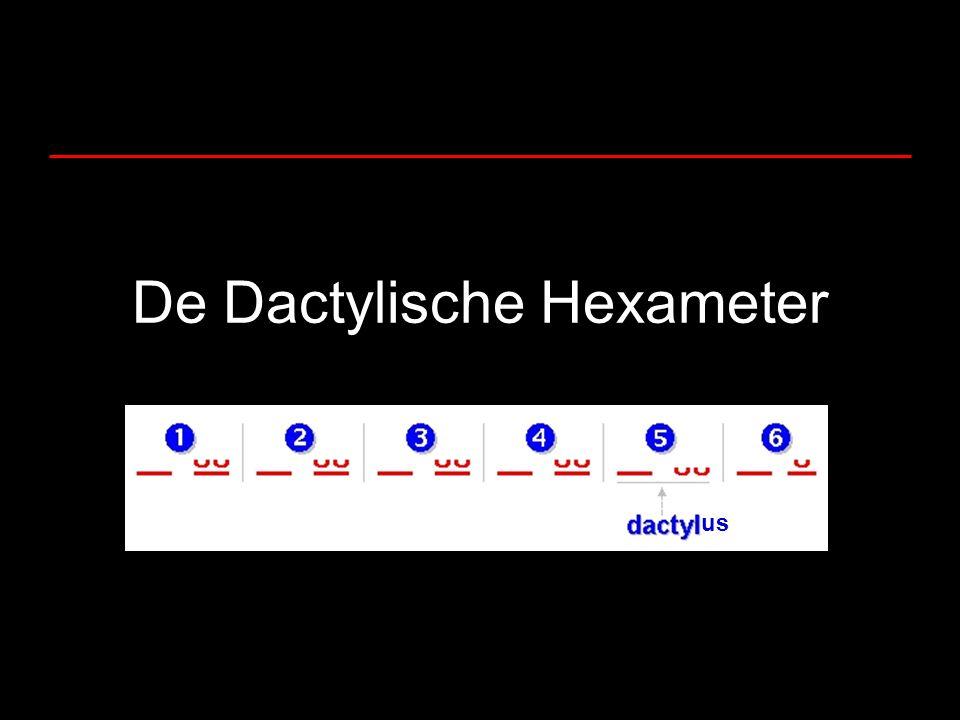 De Dactylische Hexameter