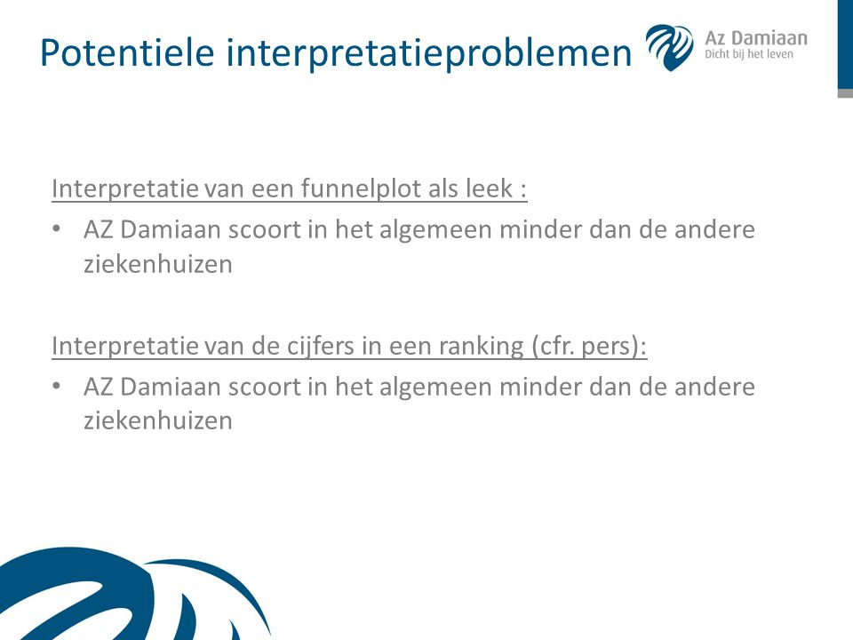 Potentiele interpretatieproblemen