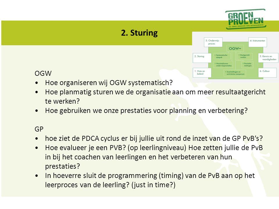 2. Sturing OGW Hoe organiseren wij OGW systematisch