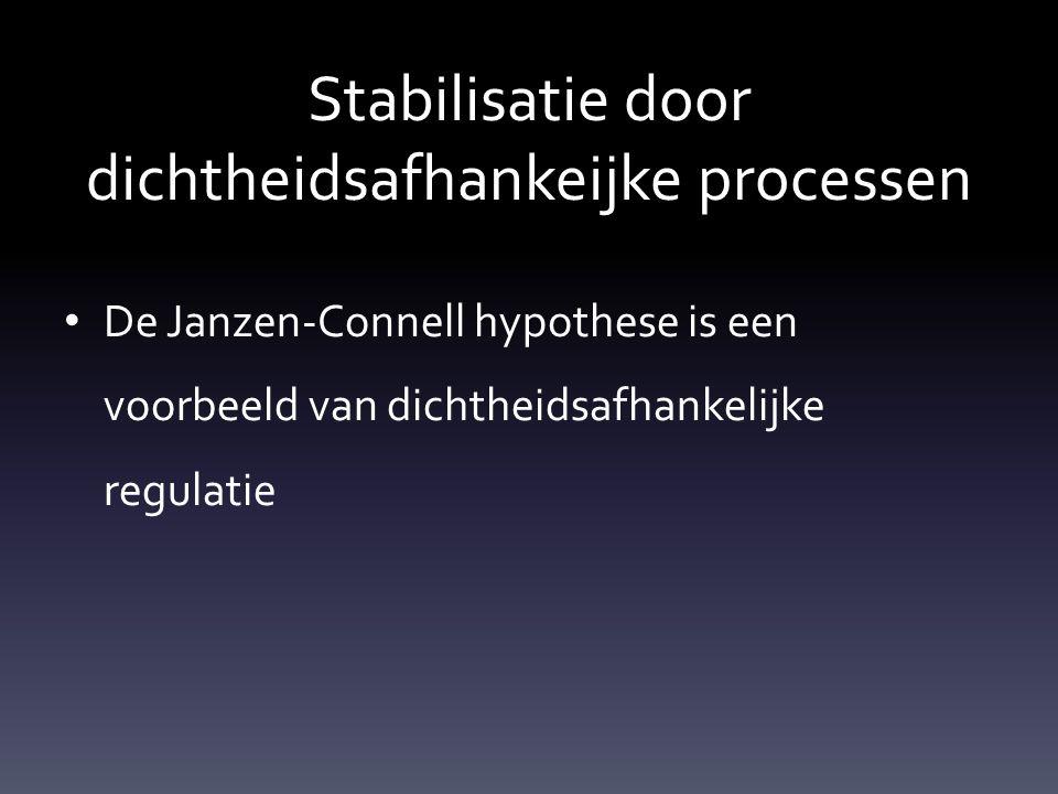 Stabilisatie door dichtheidsafhankeijke processen