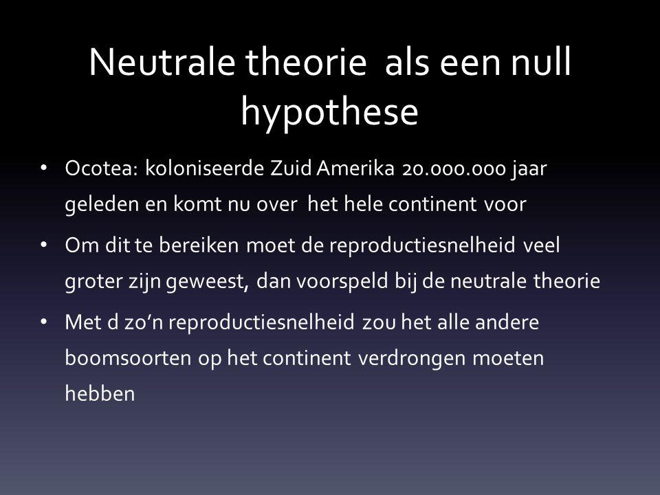 Neutrale theorie als een null hypothese