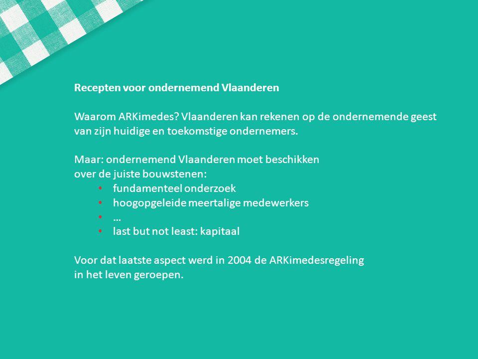 Recepten voor ondernemend Vlaanderen
