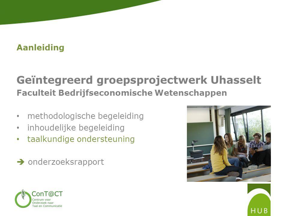 Geïntegreerd groepsprojectwerk Uhasselt