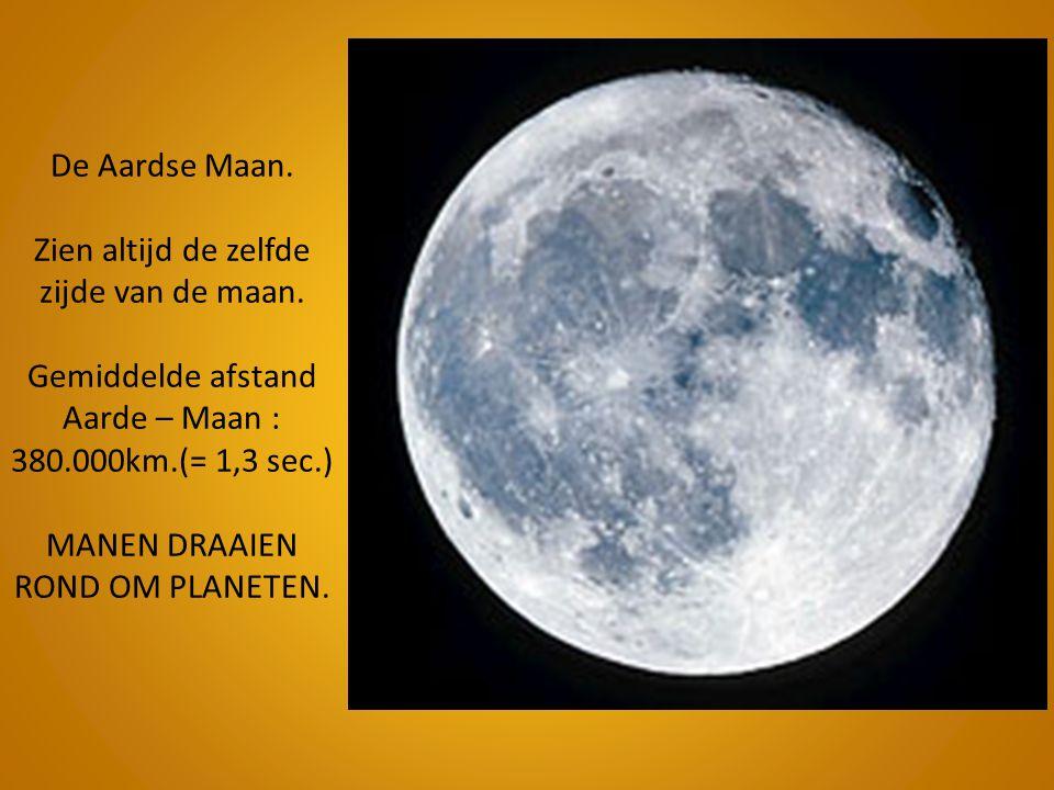 De Aardse Maan. Zien altijd de zelfde zijde van de maan