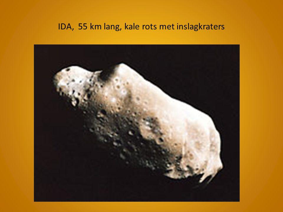 IDA, 55 km lang, kale rots met inslagkraters