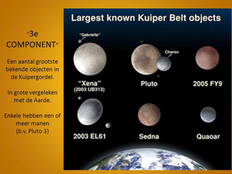 3e COMPONENT Een aantal grootste bekende objecten in de Kuipergordel