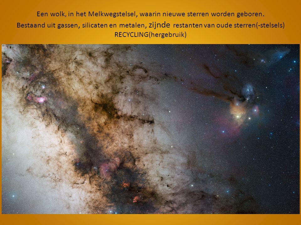 Een wolk, in het Melkwegstelsel, waarin nieuwe sterren worden geboren