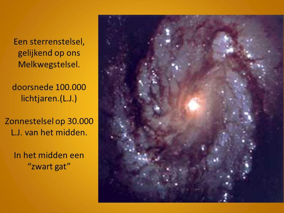 Een sterrenstelsel, gelijkend op ons Melkwegstelsel. doorsnede 100