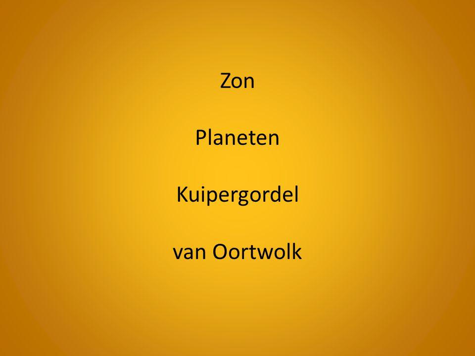 Zon Planeten Kuipergordel van Oortwolk