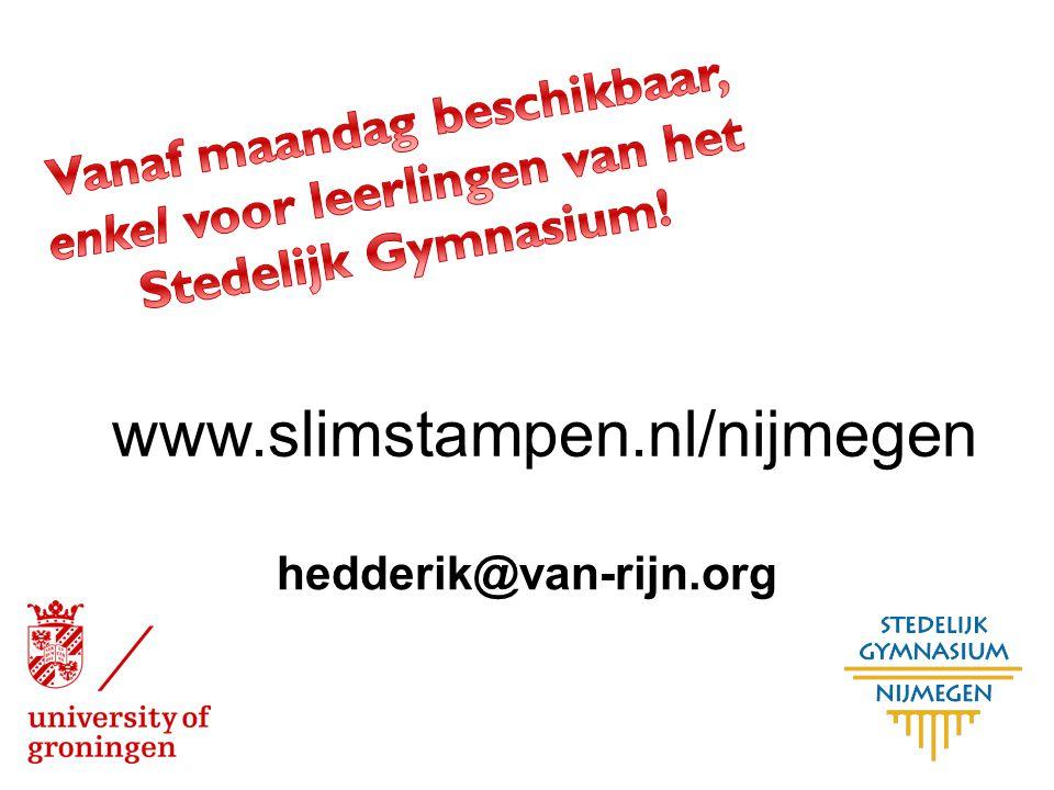 Vanaf maandag beschikbaar, enkel voor leerlingen van het Stedelijk Gymnasium!