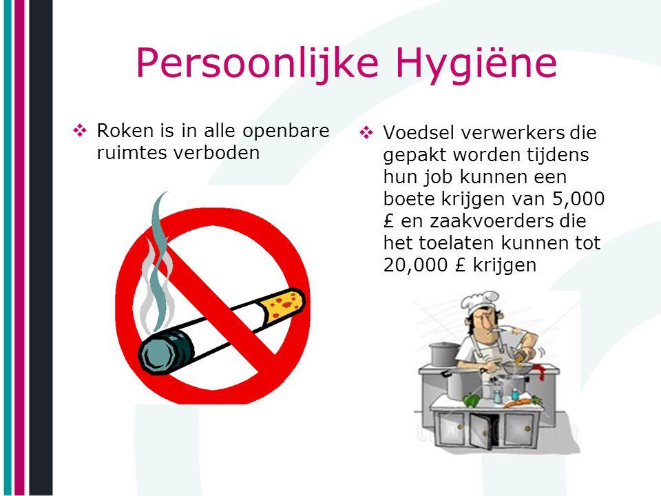 Persoonlijke Hygiëne Roken is in alle openbare ruimtes verboden
