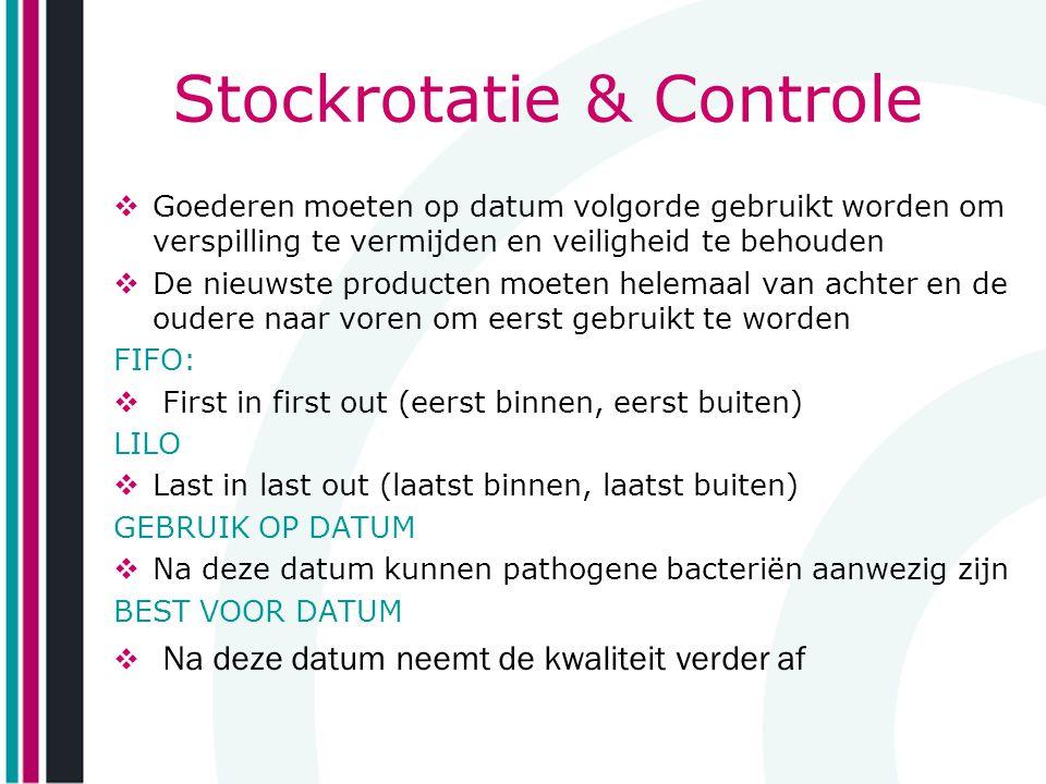 Stockrotatie & Controle