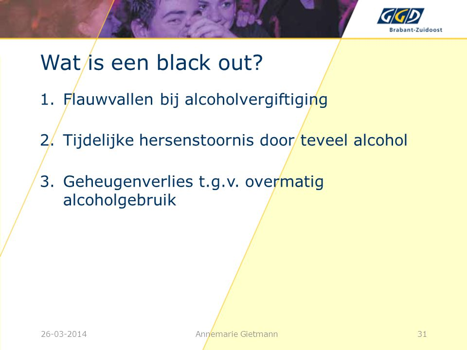 Wat is een black out Flauwvallen bij alcoholvergiftiging