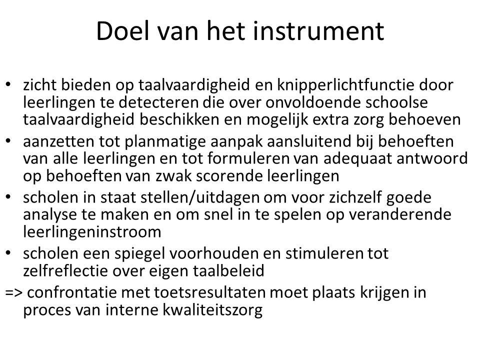 Doel van het instrument