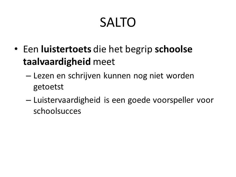 SALTO Een luistertoets die het begrip schoolse taalvaardigheid meet