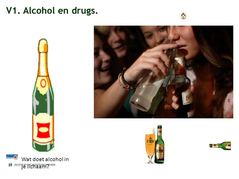 V1. Alcohol en drugs. Wat doet alcohol in je lichaam