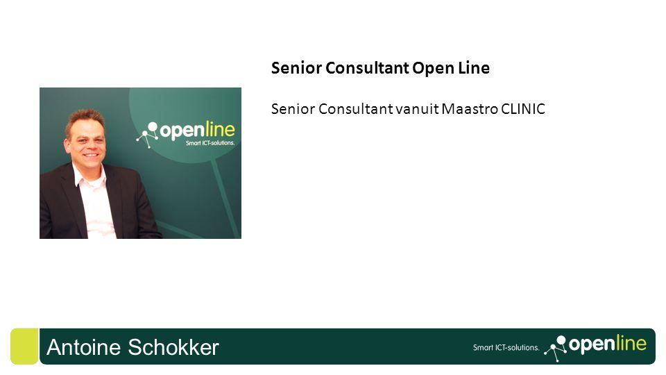Antoine Schokker Senior Consultant Open Line