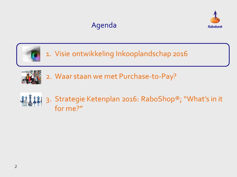 Agenda Visie ontwikkeling Inkooplandschap 2016. Waar staan we met Purchase-to-Pay.