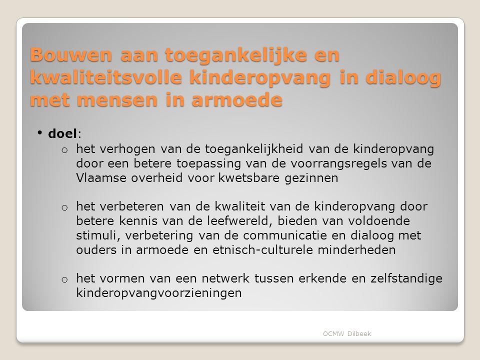 Bouwen aan toegankelijke en kwaliteitsvolle kinderopvang in dialoog met mensen in armoede