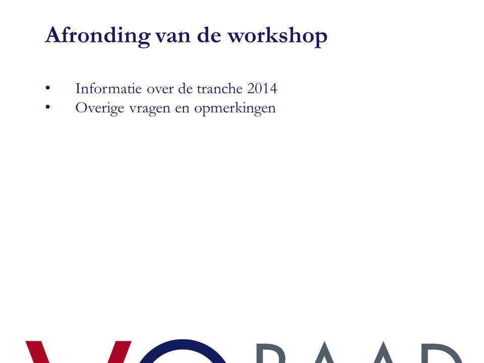 Afronding van de workshop