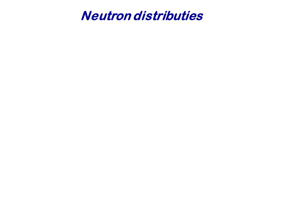 Neutron distributies