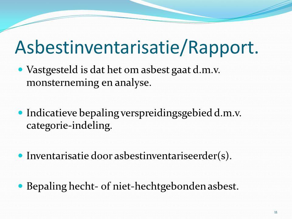 Asbestinventarisatie/Rapport.