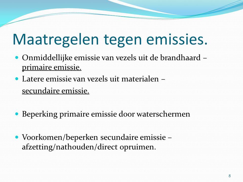 Maatregelen tegen emissies.