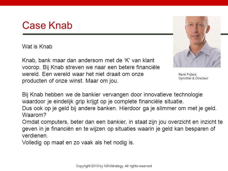 Case Knab Wat is Knab. Knab, bank maar dan andersom met de 'K' van klant. voorop. Bij Knab streven we naar een betere financiële.